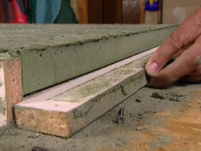 Het maken van betonnen werkbladen voor in de keuken