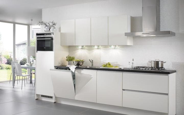 Greeploze witte keuken. free greeploze keuken mat lak wit uac with
