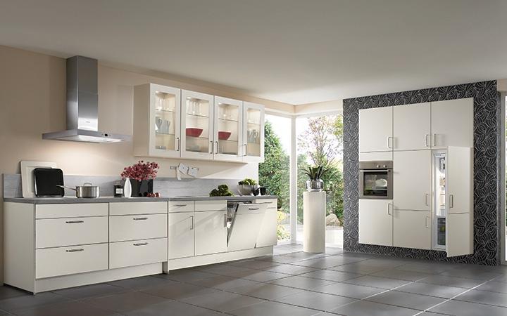 Moderne L Keuken : Moderne l keuken luxe witte hoogglans apparatuur