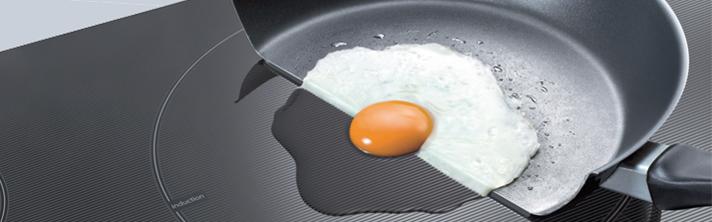 eieren koken inductie
