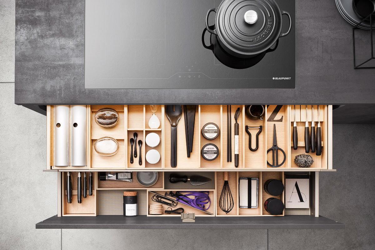 Handige keukeninrichting  ideeën: Häcker MOVE lade-indeling