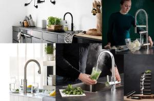 Zelf kruiden kweken in de keuken: Quooker Fusion en Quooker Flex + Selsiuz kokendwaterkraan en Selsiuz XL – verse munt van Mae Mu, Unsplash.com