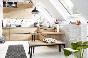 Online of in een keukenshowroom oriënteren op de Häcker keuken Vancouver hout + staal