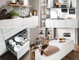 Mat witte keuken – Nobilia greeploze keuken Inline 551