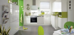 Moderne witte keuken – Nobilia hoogglans keuken Pura 834