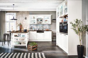 Landelijke witte keuken - Häcker L-keuken Breda