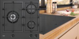 Pelgrim gaskookplaat mat zwart GK4075MAT + ETNA inductiekookplaat mat zwart KIF672DS, ETNA Performance inductielijn - keukentrend 2020