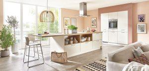Nobilia landelijke modern keuken Fashion 175 in magnolia kleur