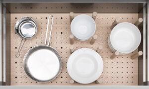 Häcker MOVE flexibele lade indeling pannen + servies