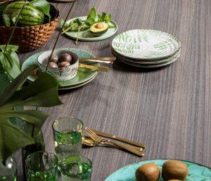 Houten keukenblad: TopCore Nuts met hout decor en structuur – Dekker Zevenhuizen
