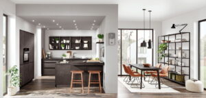 Industriële U-keuken Nobilia Riva 839 grijs beton