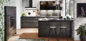 Design keuken zwart, Nobilia speed 288 zwart beton