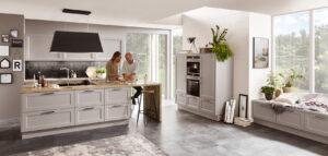 Landelijke keuken met kookeiland - Nobilia