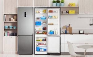 Vrijstaande koel-vriescombinatie RVS, Indesit koelkast No Frost met Push & Go