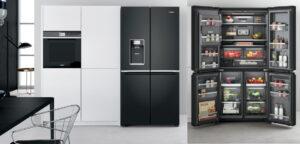 Whirlpool Amerikaanse koelkast zwart buiten en binnen, met ijsblokjes machine