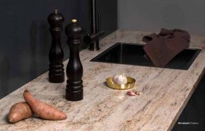 Gepolijst graniet keukenblad, Evora Granite Shivakashi Polished