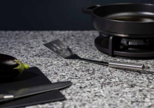 Gepolijst graniet keukenblad, Evora Granite Platinum Grey Polished