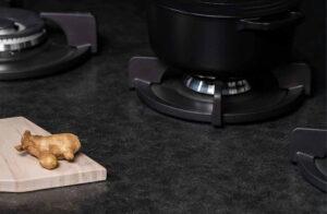 Graniet keukenblad, Evora Granite Misty Black