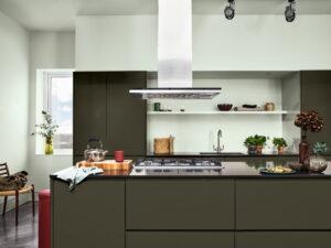 Achterwand keuken verven Flexa Tranquil Dawn
