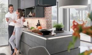 Greeploze design keuken, Nobilia Riva Concrete