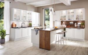 Modern landelijke L-keuken, Nobilia Nordic 782
