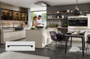 Design keuken met reling keuken handgrepen, Nobilia keuken Easytouch 969