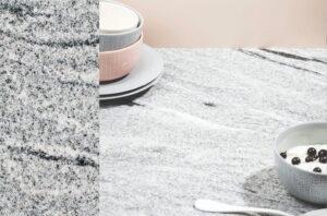 Wit granieten keuken werkblad Evora Granite Bangalore White