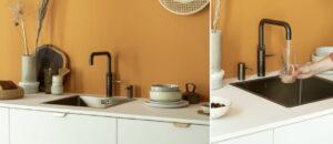 Quooker kokend-water-kraan + gekoeld en bruisend water
