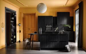 Mat zwarte keuken, Häcker keuken Meteor