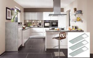 Onderbouw LED verlichting keuken dimbaar spots RVS, Nobilia